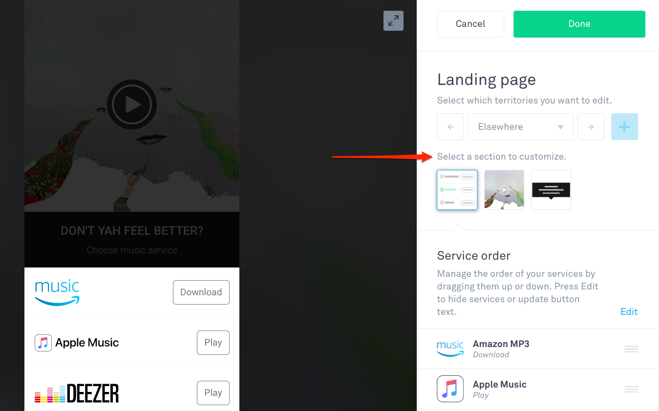 Customize The Landing Page For Your Link – Linkfire Help Center